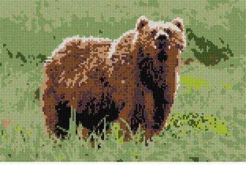 Bear Needlepoint Kit or Canvas Animal