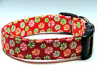 Charming Red With Holiday Christmas Candy Dog Collar