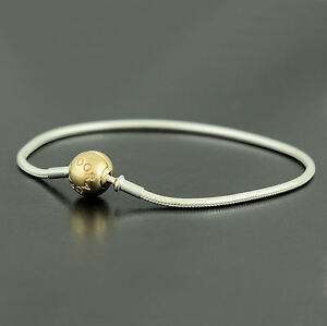 63526be26 Image is loading Authentic-Pandora-Silver-14k-Gold-Essence-Collection- Bracelet-
