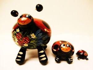 """Alkota Genuine Russian Collectible Nesting Doll """"Coccinella"""", 3.8"""""""