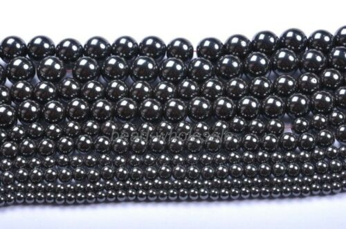 4MM 6MM 8MM 10MM 12MM Ball Black Magnetic Hematite Spacer Charms Beads,New Hot