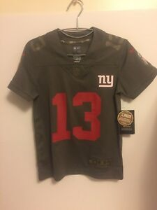 size 40 d976a 7dc62 Details about Nike New York Giants Odell Beckham Jr. Salute To Service  Olive Jersey S Youth