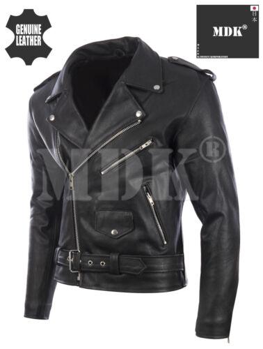 pelle cintura nera Giacca da motociclista in vera uomo con da Hqt0w0BaI