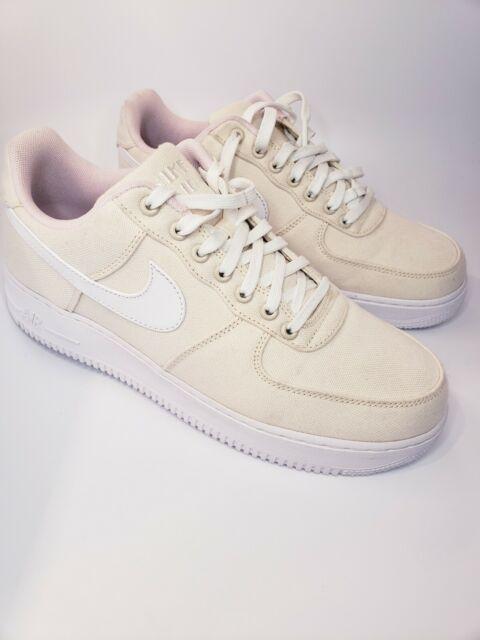 Nike Air Force 1 Low '07 LV8 QS Miami Vice Linen Natural White Sz 9; 812297 100