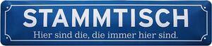 Stammtisch-Kneipe-Bier-Strassenschild-Blechschild-46-x-10-cm-STR116