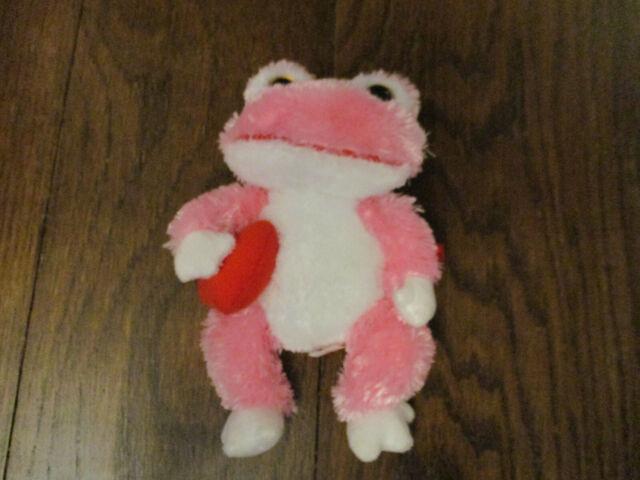 TY Beanie Baby Plush Pink Sparkle Fuzzy LOVIE the Frog w Heart NWT Valentines