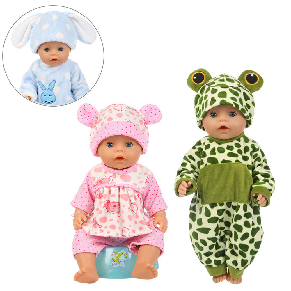 Baby Born Doll Clothes Fit 17inch Zapf Dolls Sleeping Jumpsuit Suit Doll Pajamas 5