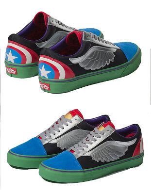 Authentic VANS x Marvel Avengers Old Skool Shoes, Thor,Captain America | eBay