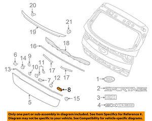 KIA-OEM-17-18-Sportage-Liftgate-Tailgate-Hatch-Tail-Gate-Trim-Pad-87316D9000