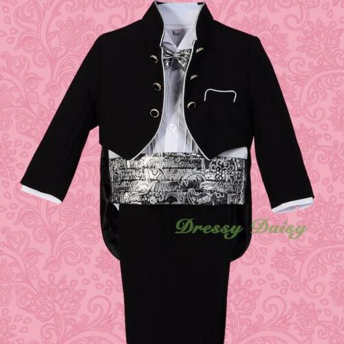 5 pcs Set Formal Suits Outfits Christening Wedding Page Boy Baby Size 0-4 ST028A
