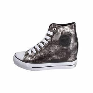 Image is loading Ev-240-Everlast-Sneakers-Platform-Wedge-Flowers-Black-