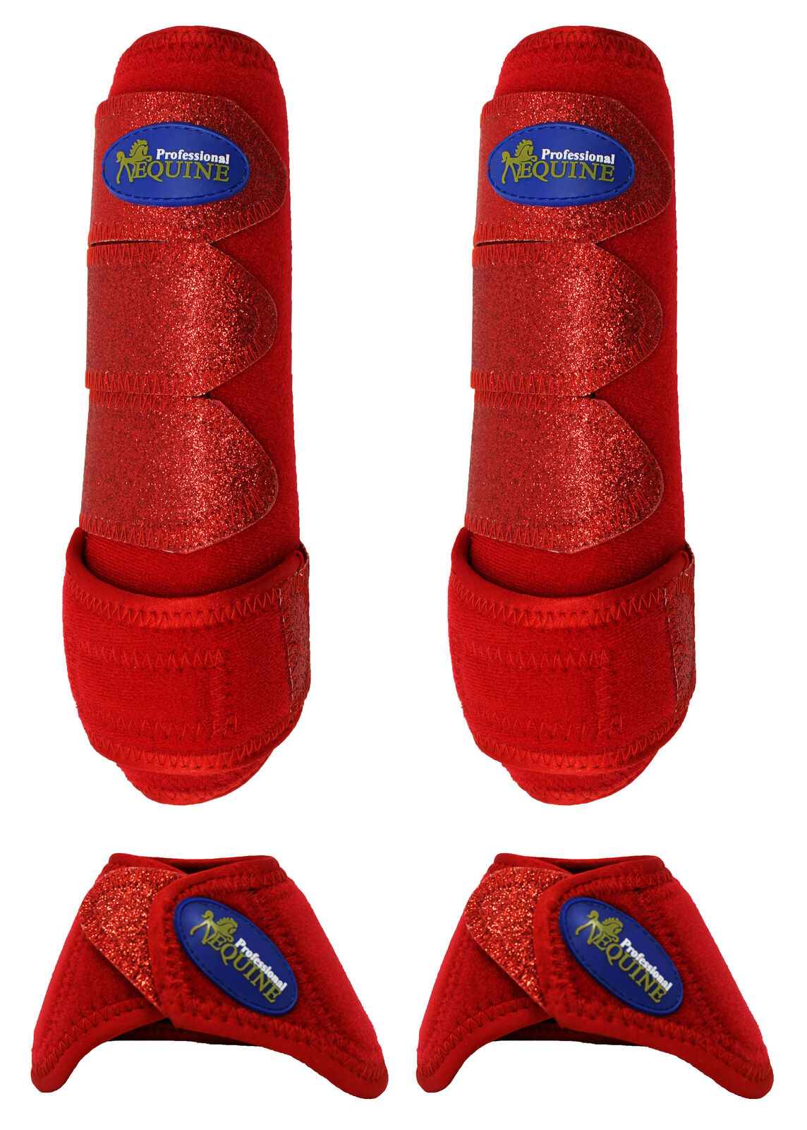 Horse  Medium Professional Equine Sports Medicine Splint Bell Boots 4151B