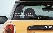 Mini Cooper Car Sticker Bumper Or Window Decal Ebay