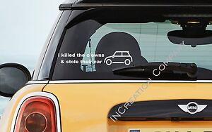 Car Decal Window Bumper Vinyl Sticker For Mini Cooper Fiat I Killed