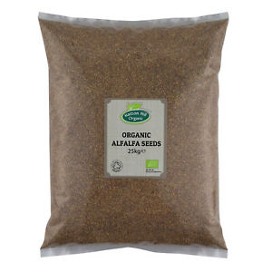 Organic Alfalfa Seeds for Sprouting 25kg Certified Organic