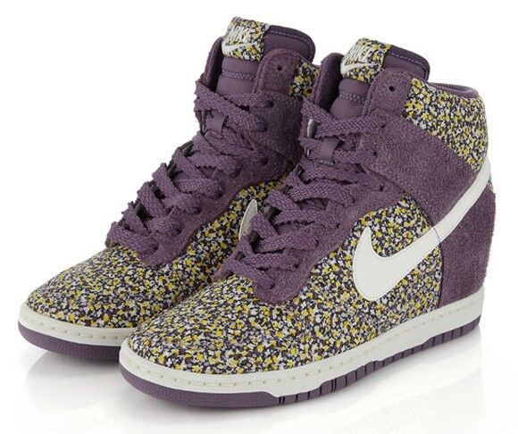 GORGEOUS Dunk NIKE Dunk GORGEOUS Sky High Liberty of London  Violet  Suede Pepper Floral US 6.5 d5a938