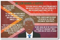 Nelson Mandela Quotes - Famous Person Civil Rights Leader Poster