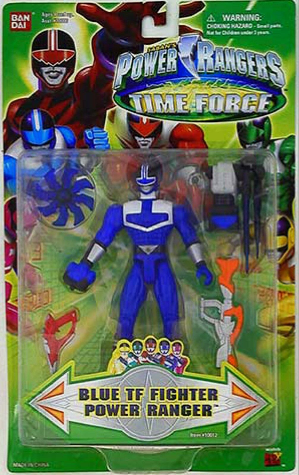 Power Rangers Time Force TF blu Ranger 5  Pulgadas Nuevo Sellado De Fábrica 2001
