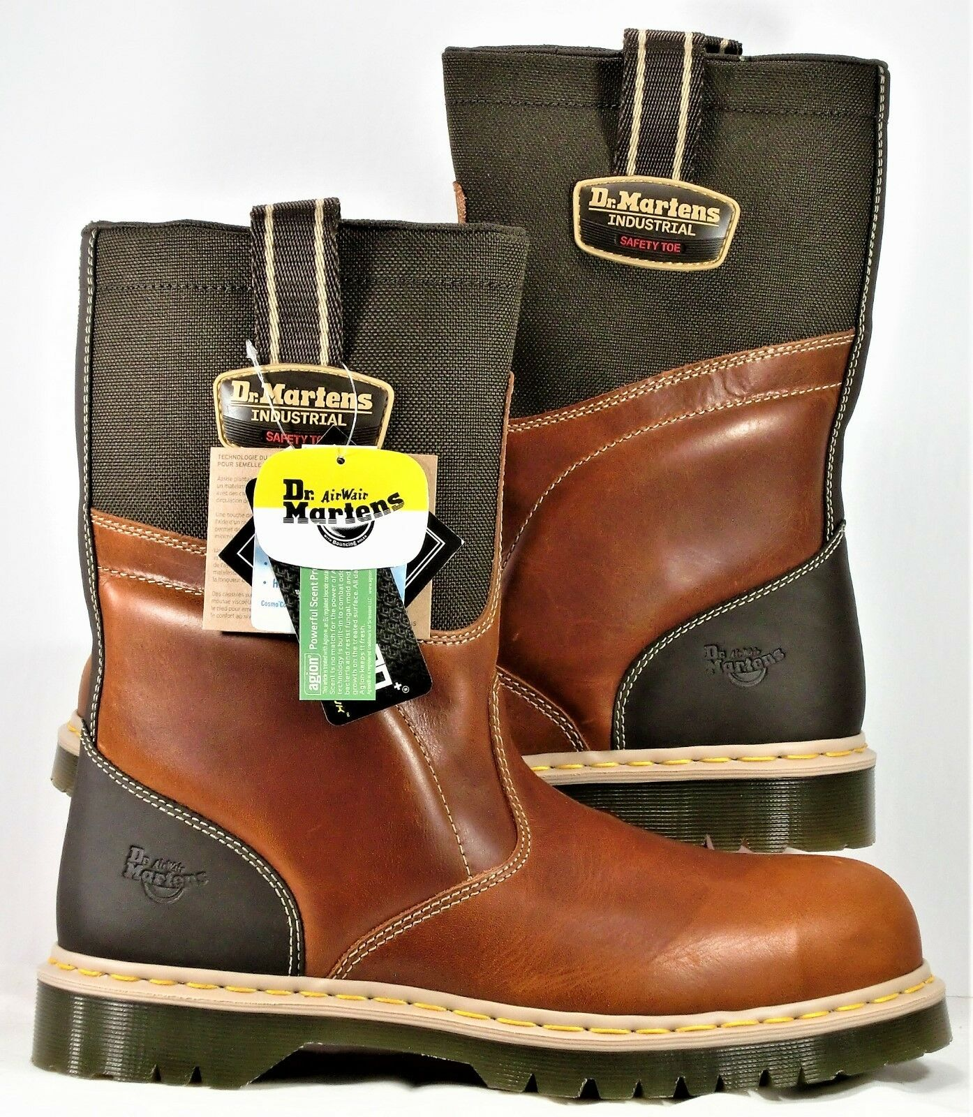Dr Martens AirWair Steel Toe Safety Safety Safety Stiefel braun Leather SZ 12 NEW ASTM F2413 11 7b572a