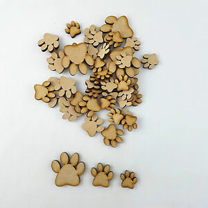 Details about 25 x Wooden MDF Paw Print craft Shapes,Cat/Dog Paws  Embellishments
