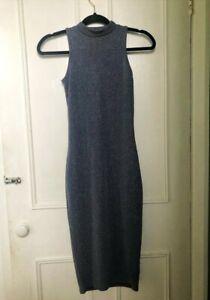 River Island Women/'s Zig Zag Bodycon Midi Dress Uk-8