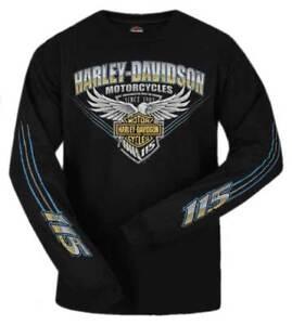 Harley-Davidson 's 115th Anniversary Stripe Eagle Long Sleeve ...