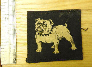 Original-Military-WWII-Eastern-Home-Command-Bulldog-Cloth-Formation-Badge-4264