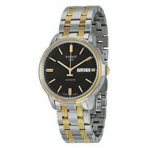 Tissot-Swiss-Made-T-Classic-III-Automatic-2-Tone-Gold-Plated-Men-039-s-Watch