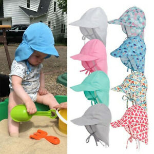 Enfants-Bebe-Coton-Anti-UV-Sun-Chapeau-De-Protection-Outdoor-Cap-Summer-Beach