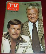 1975 TV GUIDE COVER'S ONLY~EDDIE ALBERT & ROBERT WAGNER in SWITCH~COVER'S ONLY