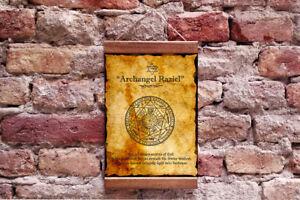 Details about Archangel Raziel Canvas Art Secret of God, Kabbalah Charm  Talisman 11 8