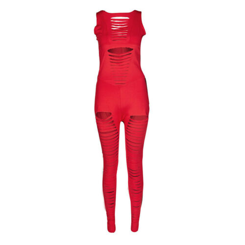Womens Sport Yoga Gym Rompers Fitness Bodycon Cut Out Workout Jumpsuit Bodysuits