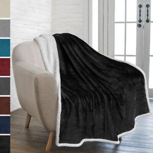 Sherpa-Blanket-Throw-Soft-Fleece-Reversible-Blanket-Sofa-Couch-Bed-Microfiber