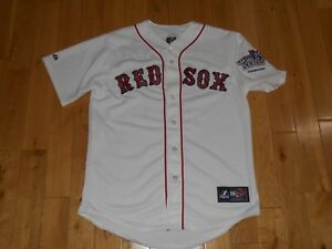 online store af9ae a5b06 Details about Majestic JACOBY ELLSBURY BOSTON RED SOX 2013 World Series  Mens MLB Team JERSEY M