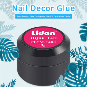 8g nail art uv gel glue for rhinestone jewelry gems decor adhesive image is loading 8g nail art uv gel glue for rhinestone prinsesfo Choice Image