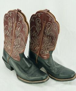 ARIAT LEGEND Brown Black Cowboy Western Square Toe Boots 15826 US Women's 10 B