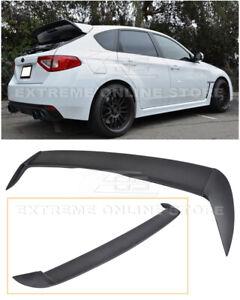 For 08-14 Subaru WRX STi Hatchback JDM Rear Roof Wing Spoiler Riser Extension