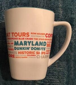 Dunkin Donuts 2017 Maryland DD IP Ceramic Coffee Mug