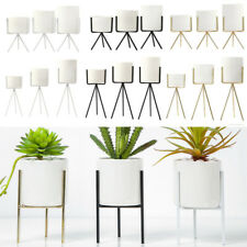 Iron Display Rack with Ceramic Vase Landscape Shelf Flower/Plant Pot Stand Decor