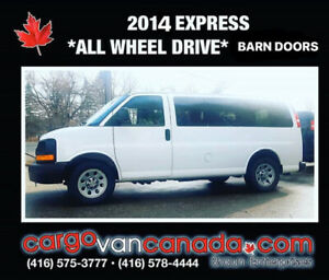 2014 CHEV EXPRESS FORD * ALL WHEEL DRIVE * CARGO & PASSENGER~