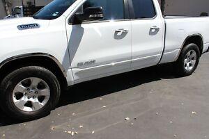 "Chrome Side Door Body Molding Trim 2/"" Crew Cab 2019-2020 Dodge Ram 1500"