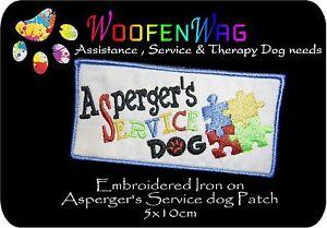 assistance-dog-patch-K9-Embroidered-Asperger-039-s-SERVICE-DOG-Patch