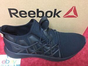 02ba000f03aee2 Reebok Pump Plus Cage Coal Black Gum Men Running Shoes Sneakers ...
