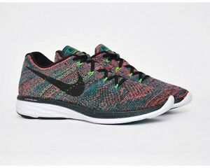 a98764a31719a Nike Flyknit Lunar 3 Radiant Emerald Black Hyper Punch red green ...