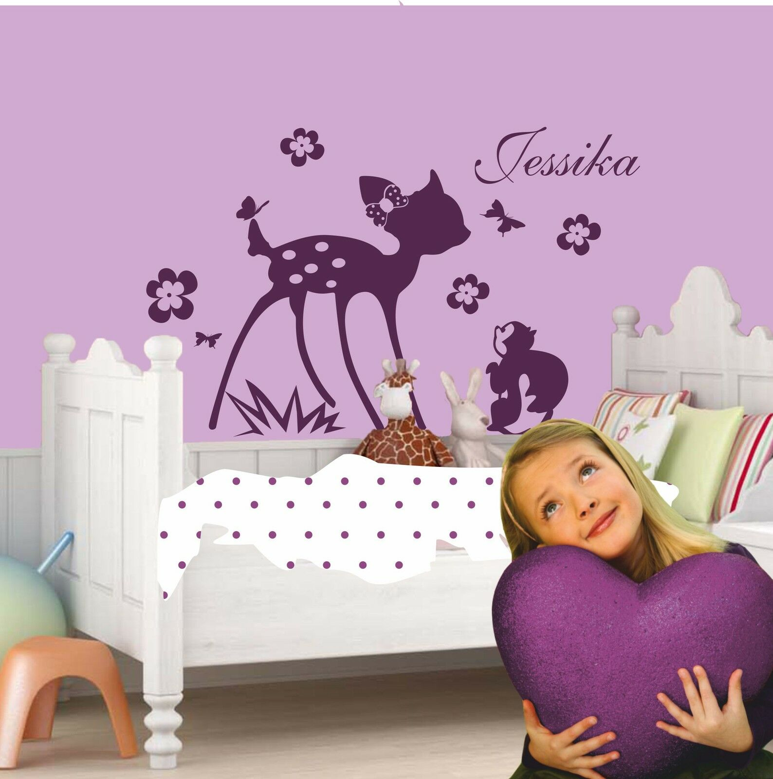 Wall Tdeer Fawn Wall Decal With Name
