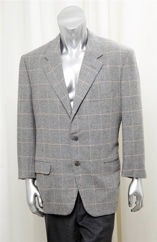 Haus der der der Bijan Herren Light-grau + Rosa Kariert Kaschmir 3-Button Blazer Anzug  | Neues Design  | Spaß  | Verschiedene aktuelle Designs  7cceb0