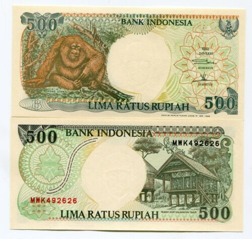 Indonesia Banknotes 500 RP 1992 UNC