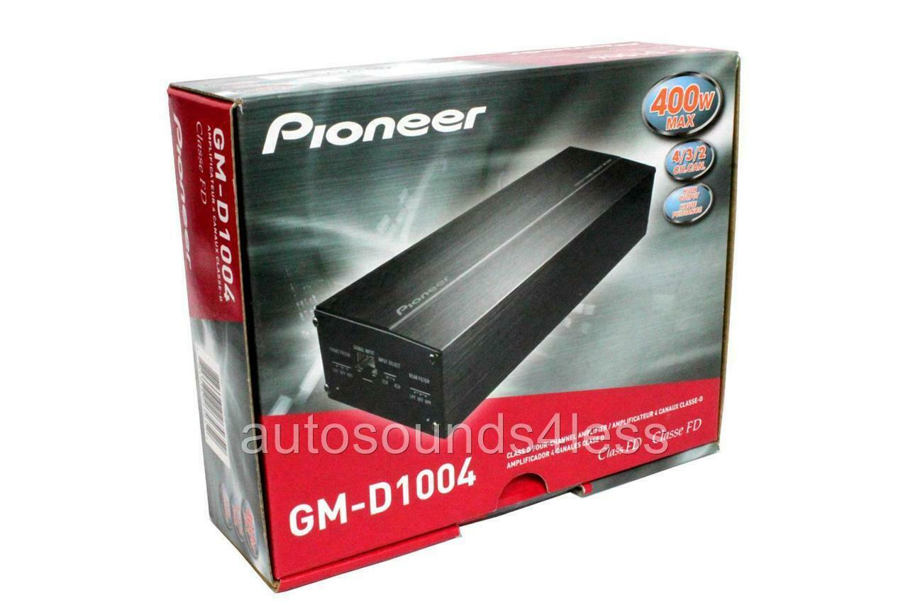PIONEER GM-D1004 small compact car amplifier 4 channel 400W