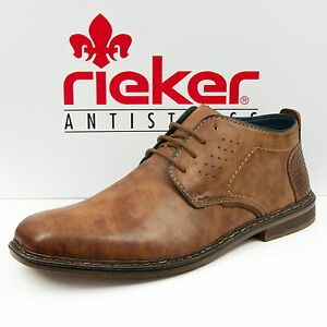 Das Bild wird geladen Rieker-Herren-Schuhe-Schnuerschuhe-Braun-B1732-24 8003a97e61