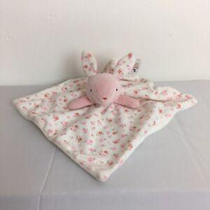 Tu-Sainsburys-Rosa-Blanco-Floral-Bunny-Conejo-Consolador-Frazada-Suave-Juguete-Abrazo-Bebe